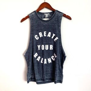 Forever 21 Create Your Balance Distressed Tank